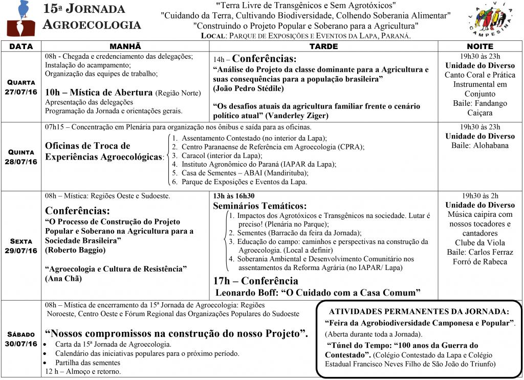 ÚLTIMA_Programação 15ª Jornada de Agroecologia_2016_